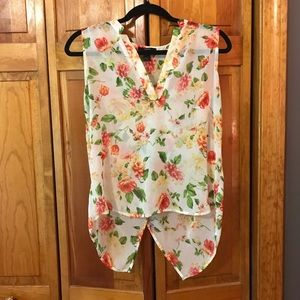 Sheer White Floral Blouse